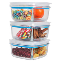 Imperial Home 6 pcs. 30 Oz Glass Meal Prep Storage Container Set W Airti... - €19,42 EUR