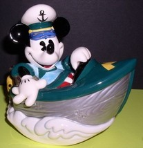 Disney Mickey Mouse Boat Music  Box MIB made of porcelain - $112.80