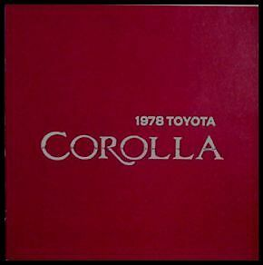 Primary image for 1978 Toyota Corolla Brochure, SR5, Accessories, MINT!