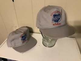 Buckeye Feeds 2 Hats Lot Of 2 Gray Farmer Strapback Trucker Cap Bovatec - $11.87