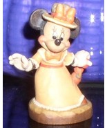 Disney Minnie Mouse miniature w/ unbrella  Anri  made in Italy Woodcarving - $199.00