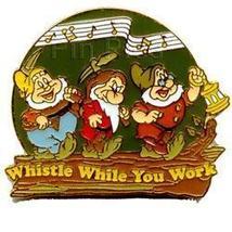 Disney Snow White & 7 Dwarfs Whistle While You Work  pin/pin - $22.20