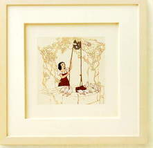 Disney Snow White at the Well Framed Art  original box - $112.22
