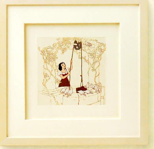 Disney Snow White at the Well Framed Art  original box