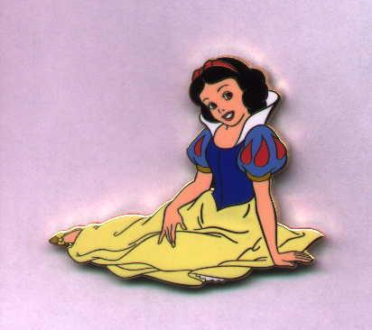 Disney Snow White full body sitting Limited Edition  Auction Pin/Pins