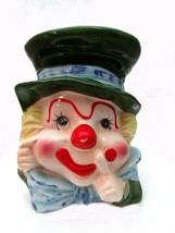 """An item in the Pottery & Glass category: 1960s Napco 5 3/4"""" Clown Head Vase"""