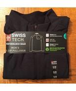 Men's Gray Black 1/4 Zip LS Performance Athletic Pullover * Size XL (46-... - $21.28