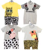 StylesILove Cute Animal Print Baby Toddler Boy Jumpsuit - $11.99