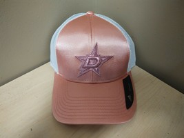 NEW ADIDAS NHL Dallas Star Adjustable Ladies Hat Pink/White 11G2-527 - $9.50