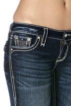 Rock Revival Women's Premium Boot Cut Dark Denim Rhinestone Jeans Ena B19 image 5