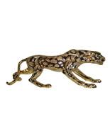 "Modern Art Large Gold Jaguar Statue Made of Resin - Size: 42""L x 8""W x 1... - $480.00"
