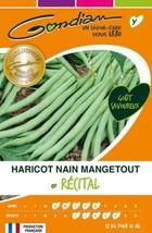 Gondian 67805 CP Y ou 3 Semences Haricot Nain Mangetout Récital Vert 1 x... - $16.38
