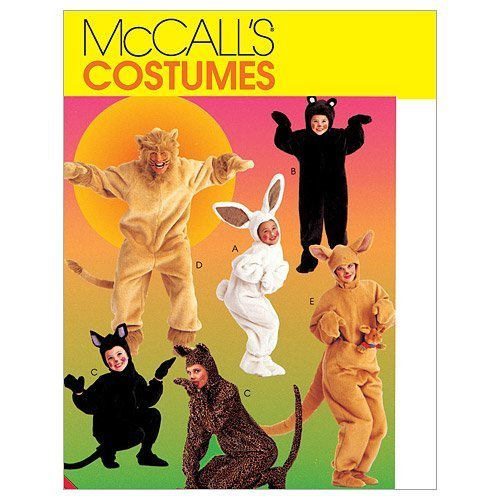 Primary image for McCall's Patterns M6106 Adults'/Kids' Animal Costumes, Size CL (6-7-8)