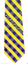 Louisianna State Tigers LSU Mens Necktie University College Checks Neck Tie - $31.68
