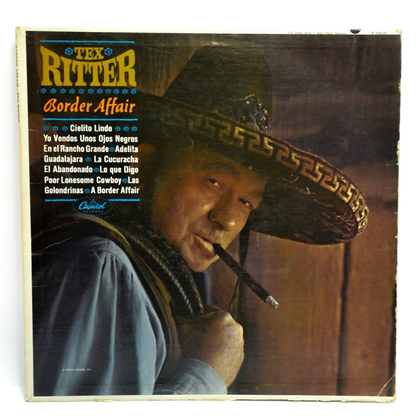 Primary image for Tex Ritter Border Affair LP Vinyl Album Record 1963 Capitol T1910