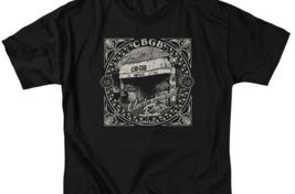 CBGB Retro 70's Punk Rock Bar NY City graphic black cotton T-shirt CBGB105 image 3