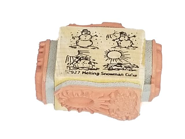 Melting Snowman Rubber Stamp Set, 4 Images