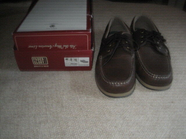 NWT Men/'s Faded Glory Blue Canvas Casual Shoes Comfort Footwear