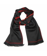Versace Collection Black & Red Mens Scarf ISC38R2WIT02846I4081 - $125.00