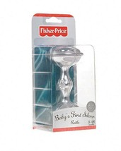 NEW FIsher-Price Baby's First Silver rattle (plastic toy) for 3-18 months - $17.81
