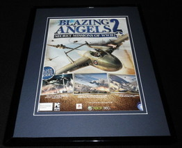 Blazing Angels 2 2007 XBox Framed 11x14 ORIGINAL Vintage Advertisement - $22.55