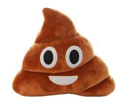 StylesILove Emoji Smiley Poop Face Plush Stuffed Toy Throw Pillow, 2 Siz... - $15.83