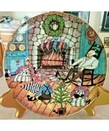 "P Buckley Moss ""Christmas Warmth"" 7 1/2"" Germany Bavaria Anna Perea1992 - $18.70"