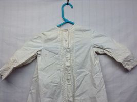 Vintage Off White Linen Button Up Baby Dress  image 3