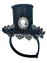 Mini Steampunk Top Hat Headband Black Women's Costume Accessory - $10.69