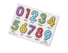 Melissa & Doug See-Inside Numbers Wooden Peg Puzzle (10 pcs) - $16.29