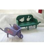 Muffy Vanderbear Roco Loco Motion and large Muffy wheelbarrow/bench - $50.00