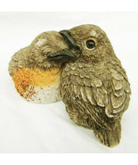 UDC nesting birds two entwined babies robins? resin figurine - $7.50