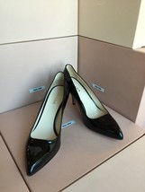 New PRADA Shiny Black Pumps 39 Women's Heels Shoes Italy - $324.99