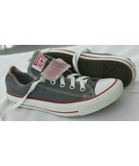 Converse All Star Gray pink Polka Dot lining Double Tongue Sz 8 Sneakers... - $29.70