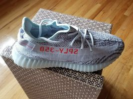 Adidas Yeezy Boost 350 V2 Blau Getönt Grau Rot B37571 Vorrat Neu Box Größe 9.5 image 4
