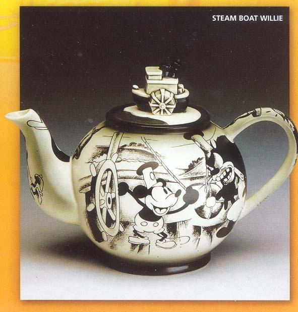 Disney Steamboat Willie Mickey Teapot rare