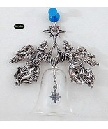 Hallmark 1988 Silver Angels Crystal Bell Christmas Ornament - $7.95