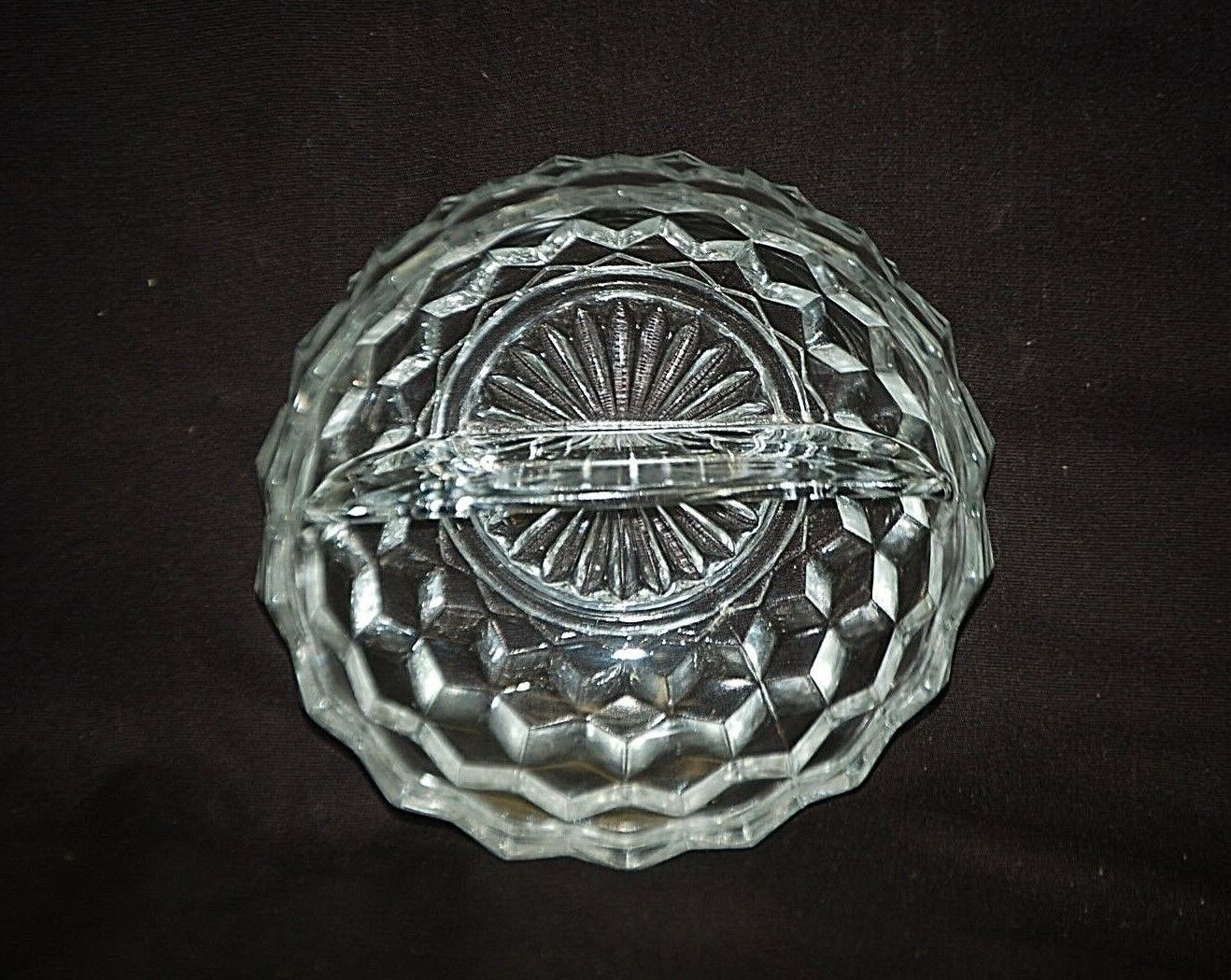 Old Vintage Whitehall Clear Colony Divided Relish Dish Stacked Cube Design MCM - $12.86