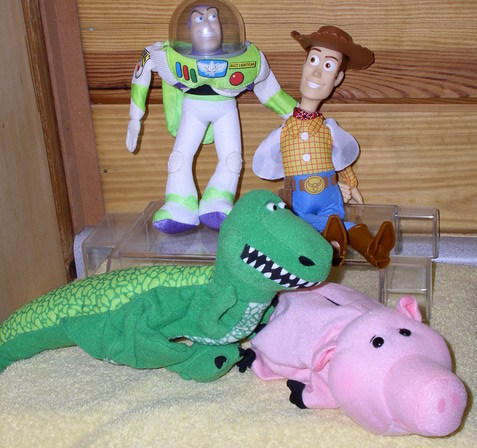 Disney Toy Story 1 Buzz, Woody, Ham & Rex Hand Puppets