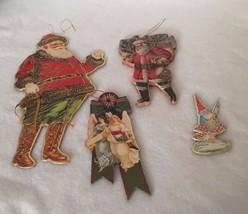 Merrimack Cynthia Hart Vintage Christmas Ornament Lot Santa Angel 20865 ... - $16.24