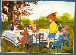 Disney Winnie the Pooh Birthday Party Lithograph - $22.20