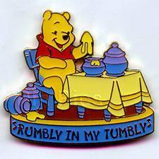 Disney  Winnie the Pooh eating honey Music Pin/Pins