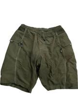 Vintage NEMA Padded Mountain Bike Shorts Crown Jewel Khaki Green Mens Si... - $24.74