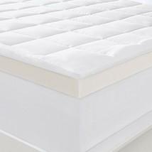 Memory Foam Mattress Topper Queen Size Fiber Pillow Top Bed Protector Pa... - $167.30