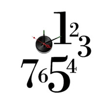 New! Diy Self Adhesive Wall Clock - Do It Yourself 3D Interior Time Clock - 127