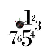 NEW! DIY SELF ADHESIVE WALL CLOCK - DO IT YOURSELF 3D INTERIOR TIME CLOC... - $9.85