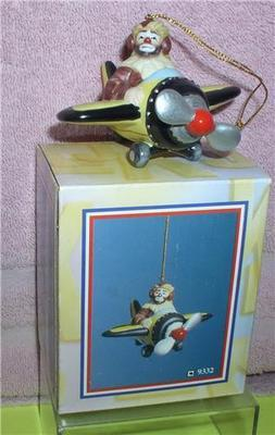 Primary image for Emmett Kelly Jr. Airplane Pilot  circus clown ornament