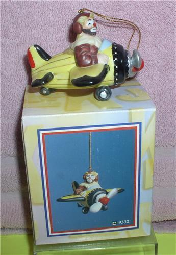 Emmett Kelly Jr. Airplane Pilot  circus clown ornament