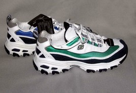 Skechers Sport D'Lites Blue Green Navy Seahawks Colors Sneakers Wm's 7 NWT - $64.99