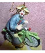 Emmett Kelly Jr. Bike  Bicycle rider circus clown ornament - $23.93